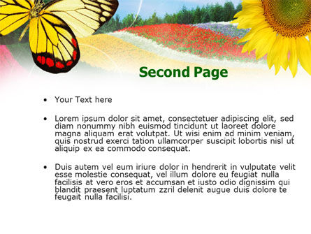 Butterfly PowerPoint Template Slide 2
