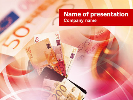 Financial/Accounting: Euro Money Collage PowerPoint Template #00837