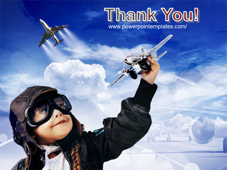 Little Pilot PowerPoint Template Slide 20