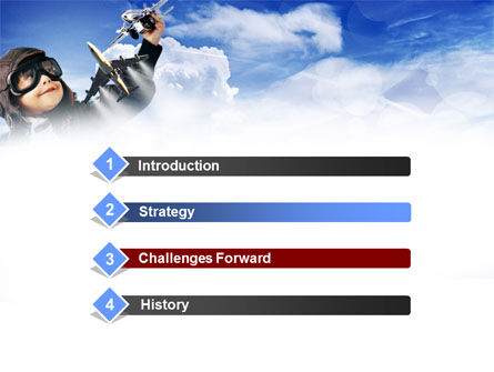 Little Pilot PowerPoint Template, Slide 3, 00838, Education & Training — PoweredTemplate.com