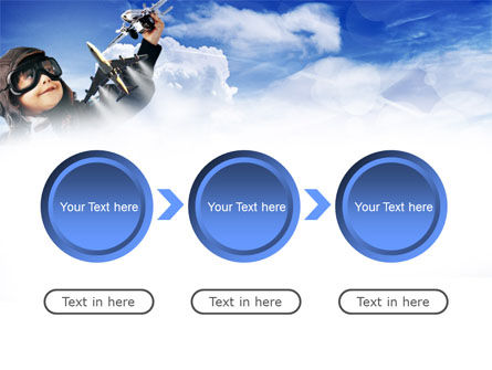 Little Pilot PowerPoint Template Slide 5