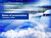 Cars and Transportation: Vluchtschema PowerPoint Template #00839