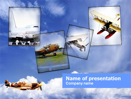 Cars and Transportation: Aviation History PowerPoint Template #00842