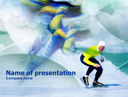 Sports: Speed Skating PowerPoint Template #00843