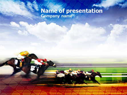 Horse Racing PowerPoint Template, 00844, Sports — PoweredTemplate.com