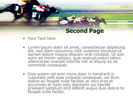 Horse Racing PowerPoint Template, Slide 2, 00844, Sports — PoweredTemplate.com