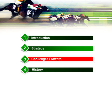 Horse Racing PowerPoint Template, Slide 3, 00844, Sports — PoweredTemplate.com