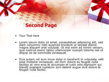 Gift Wrapping PowerPoint Template Slide 2