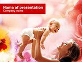 People: Mother and Baby PowerPoint Template #00848