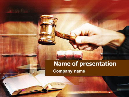 Legal: Court PowerPoint Template #00849