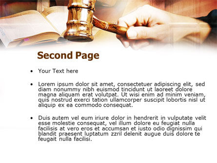 Court PowerPoint Template Slide 2
