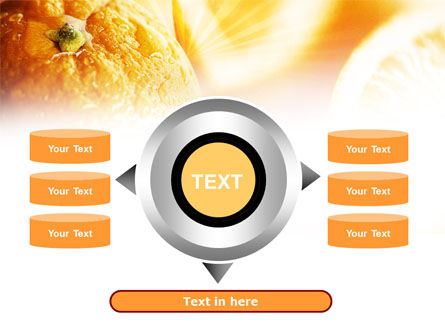 Oranges And Halves PowerPoint Template Slide 12
