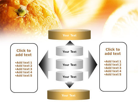 Oranges And Halves PowerPoint Template Slide 13