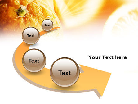 Oranges And Halves PowerPoint Template Slide 6