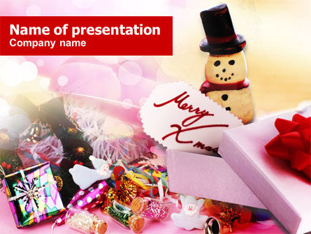 Merry Xmas PowerPoint Template, 00852, Holiday/Special Occasion — PoweredTemplate.com