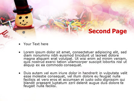 Merry Xmas PowerPoint Template, Slide 2, 00852, Holiday/Special Occasion — PoweredTemplate.com