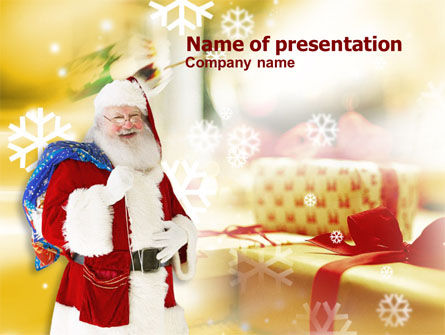 Holiday/Special Occasion: Santa PowerPoint Template #00854