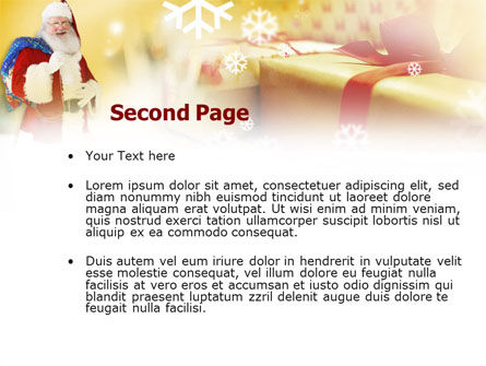 Santa PowerPoint Template, Slide 2, 00854, Holiday/Special Occasion — PoweredTemplate.com