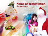 Holiday/Special Occasion: Christmas Present PowerPoint Template #00855