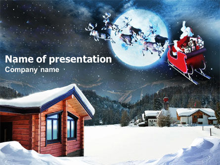 Christmas Eve PowerPoint Template, 00856, Holiday/Special Occasion — PoweredTemplate.com