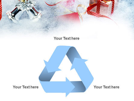 Christmas Presents In A Snow PowerPoint Template Slide 10