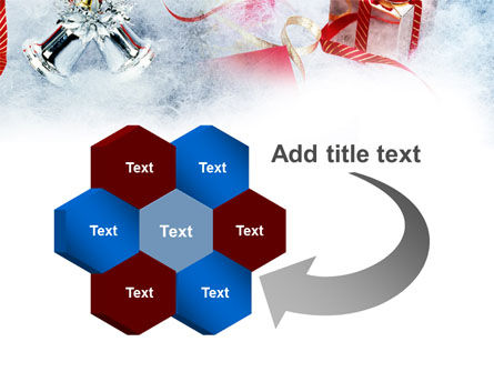 Christmas Presents In A Snow PowerPoint Template Slide 11