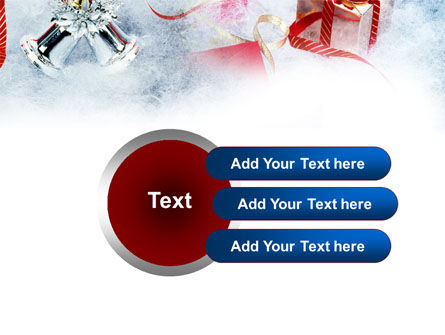Christmas Presents In A Snow PowerPoint Template Slide 12