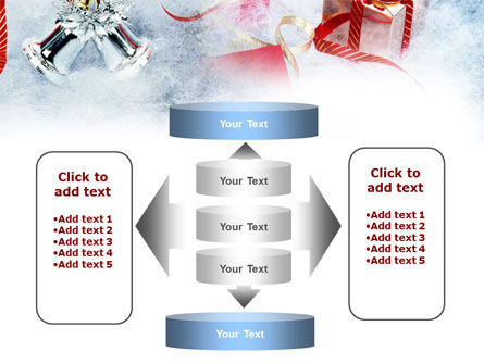 Christmas Presents In A Snow PowerPoint Template Slide 13