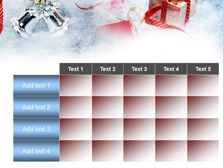 Christmas Presents In A Snow PowerPoint Template Slide 15