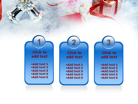 Christmas Presents In A Snow PowerPoint Template Slide 16
