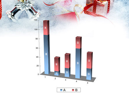 Christmas Presents In A Snow PowerPoint Template Slide 17