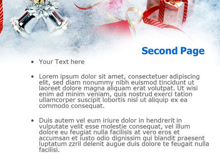 Christmas Presents In A Snow PowerPoint Template, Slide 2, 00857, Holiday/Special Occasion — PoweredTemplate.com