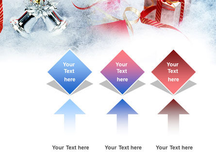 Christmas Presents In A Snow PowerPoint Template Slide 5