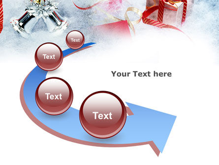 Christmas Presents In A Snow PowerPoint Template Slide 6