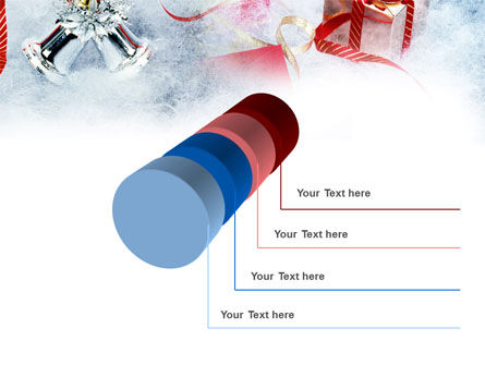 Christmas Presents In A Snow PowerPoint Template Slide 7
