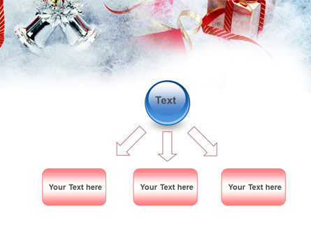 Christmas Presents In A Snow PowerPoint Template Slide 8