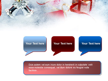 Christmas Presents In A Snow PowerPoint Template Slide 9