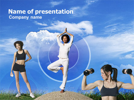 Sports: Modelo do PowerPoint - mantendo em forma #00858