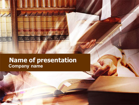 Library Books PowerPoint Template, 00860, Education & Training — PoweredTemplate.com