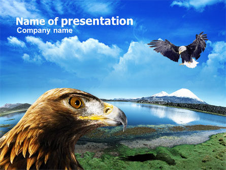 Nature & Environment: Eagles PowerPoint Template #00861