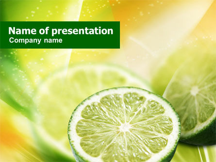Food & Beverage: Modèle PowerPoint de tranche de citron #00862