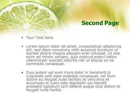 Lemon Slice PowerPoint Template, Slide 2, 00862, Food & Beverage — PoweredTemplate.com