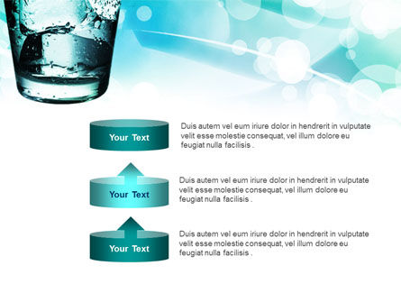 Glass Of Cold Water With Ice Cubes PowerPoint Template Slide 10