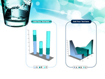 Glass Of Cold Water With Ice Cubes PowerPoint Template Slide 13