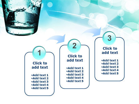 Glass Of Cold Water With Ice Cubes PowerPoint Template Slide 14