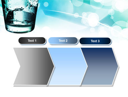 Glass Of Cold Water With Ice Cubes PowerPoint Template Slide 16