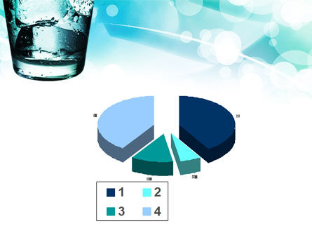 Glass Of Cold Water With Ice Cubes PowerPoint Template Slide 17