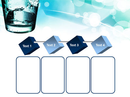 Glass Of Cold Water With Ice Cubes PowerPoint Template Slide 18