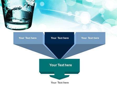 Glass Of Cold Water With Ice Cubes PowerPoint Template Slide 3
