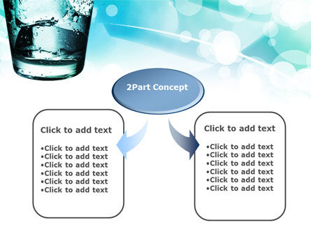 Glass Of Cold Water With Ice Cubes PowerPoint Template Slide 4